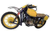 Old yellow sport bike — Stock Photo