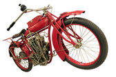 Vintage red city motorbike — Stock Photo