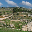 Maltese landscape, Malta, Landscape Countryside Scenery In Malta, cultivated fields on cloudy day in Malta,panoramic view,maltese nature summer in Malta,landscape view of mediterranean Maltese islands — Stock Photo