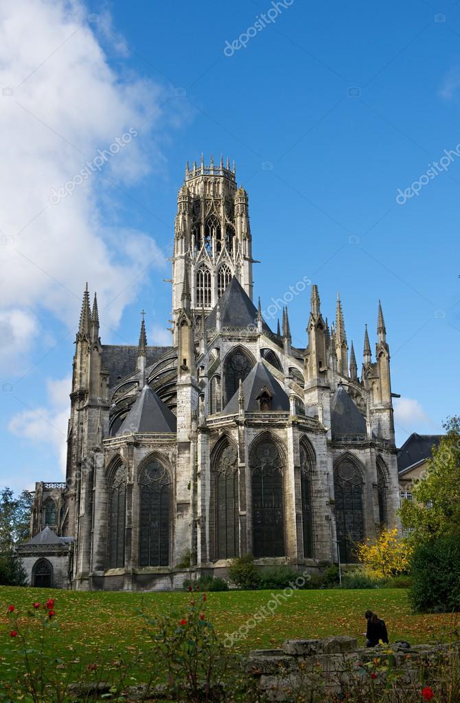 rouen normandie frankreich blick auf die kuppel der kathedrale von rouen normandie. Black Bedroom Furniture Sets. Home Design Ideas