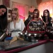 Stock Video: Shot of young attractive women making chocolate
