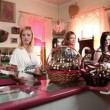 Stock Video: Girl friends in chocolate shop