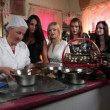 Stock Video: Shot of women making chocolate pralines