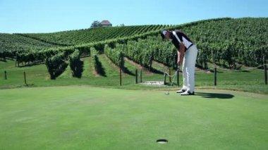 Shot of a man golfer — Stock Video