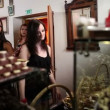 Stock Video: Shot of women looking at candies in chocolate shot