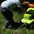 Shot of little boy playing with his toy — Vídeo de stock
