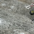Close up of hand of mrock climbing in nature — Vidéo #28353411