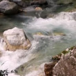 Extraordinary water stream on Soca river in Europe — Stock Video