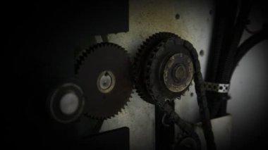 ケーブルと壁を歯車 — ストックビデオ