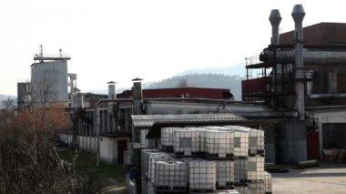Tiro de uma jarda factorys — Vídeo Stock