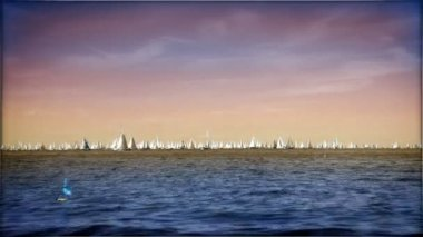 Boats sailing — Vídeo de Stock
