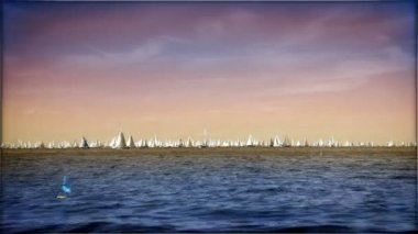 Boats sailing — Stockvideo