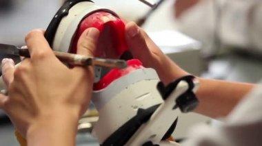 Develop dental prosthesis — Stock Video