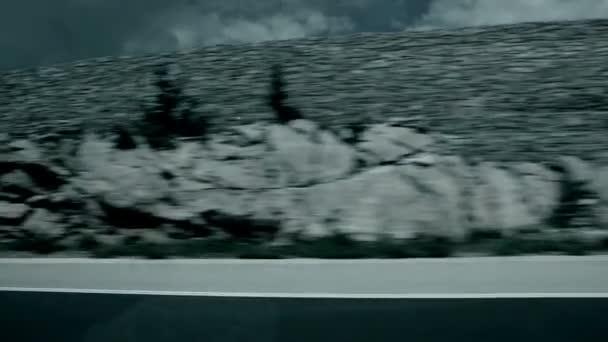 Toma de la carretera del coche — Vídeo de stock