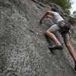 Young mrock climbing shot from below — Vidéo #28360073