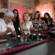 Stock Video: Shot of women making chocolate pralines in shop