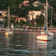Stock Video: Shot of some sailing boats in harbour near Piran