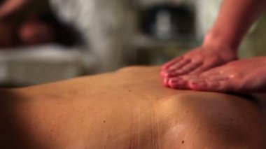 Female massage work — Stock Video