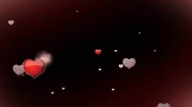 Red hearts with inscription I love you animation for Valentine's day — 图库视频影像