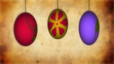 Animation of Easter eggs — Stock Video