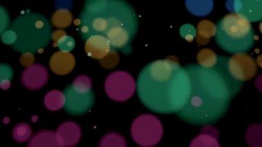 在空间中移动的动画的彩色泡沫. — 图库视频影像
