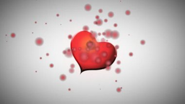 Animados rojo corazón e inscripción feliz san valentín — Vídeo de stock