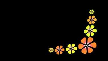 Animerade blommor — Stockvideo