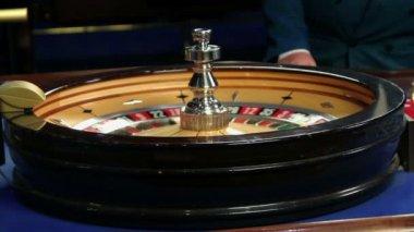 Roulette in casino — Stock Video