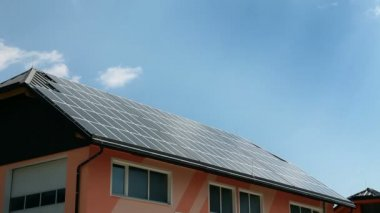 Solar panels on a roof — Stock Video