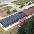 Roof covered with solar power station — Stock Video #28391391