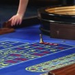 Betting all at roulette in casino — Stock Video