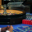 Playing roulette in casino — Stock Video