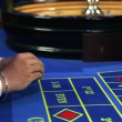 Close up of betting at casino's roulette — Stock Video