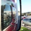Close up shot of the side mirror on the truck — Stock Video