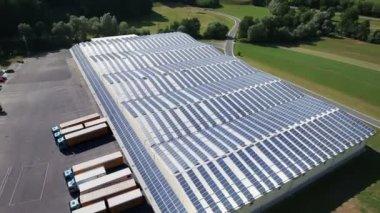 Solar power station — Stock Video