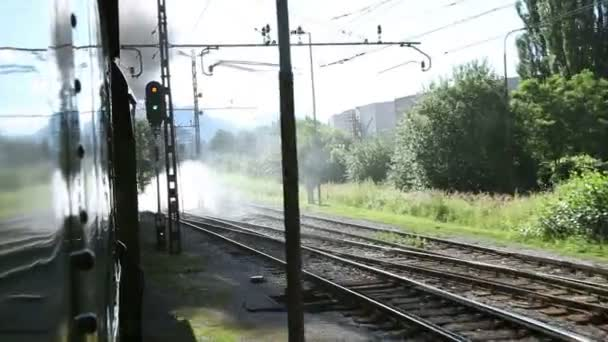 Coup du paysage en passant par le train — Vidéo