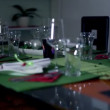 Specially decorated table for a special occasion — Vídeo Stock