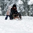 Family enjoying winter time — Vídeo de stock