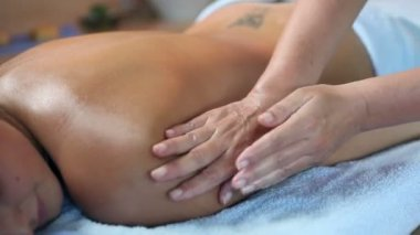 Massaging therapy of woman arms — Stock Video