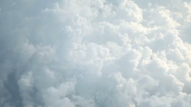 Beautiful cloudscape view from above — Stok video
