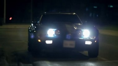 Corvette's Headlights — Stockvideo