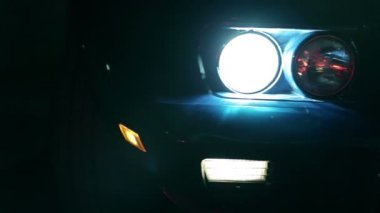 Light Up Corvettes Headlights — Stockvideo