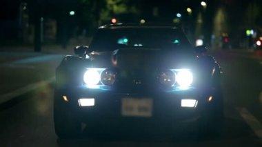 Corvette driving towards the camera — Stock Video