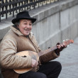 Stock Photo: Senior street performer
