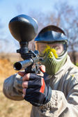 Paintball sport player — 图库照片