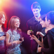 Friends Dancing at the party — Stock Photo