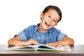 小男孩享受学习. — 图库照片