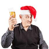 Funny Christmas man — Stock Photo