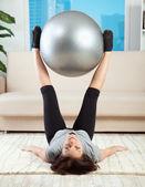 Fitness in casa — Foto Stock
