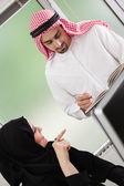 Arabic Business Couple Working — Stock Photo